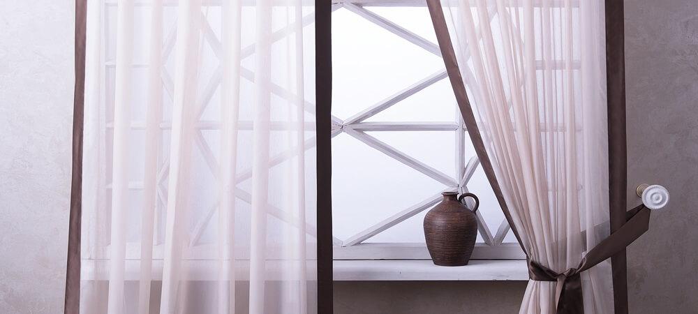 шторы с кантом окантовкой